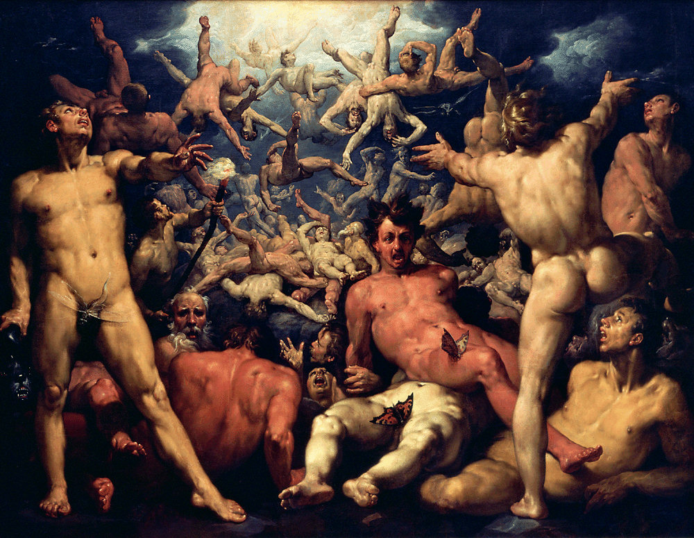 Fall of the Titans, i.e. poor nootropic quality. By Cornelis van Haarlem [Public domain], via Wikimedia Commons