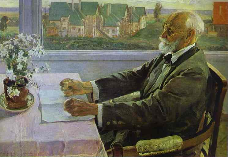 Portrait of Ivan Pavlov, frustrated, because. Mikhail Nesterov [Public domain], via Wikimedia Commons