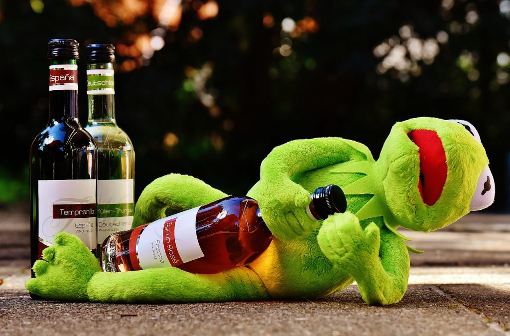 Kermit the Frog, desperate for those polyphenols