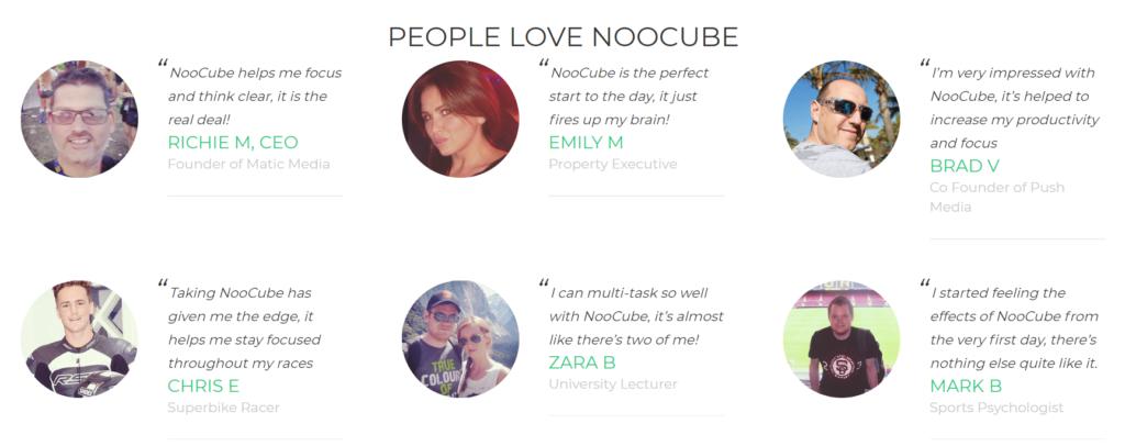 NooCube testimonials