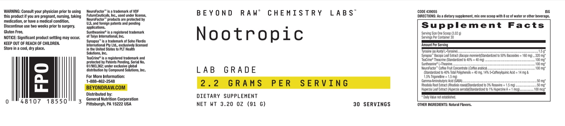 Beyond Raw Chemistry Labs Nootropic Review - Mental