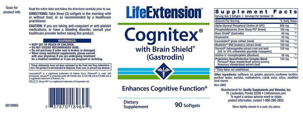 Cognitex Label