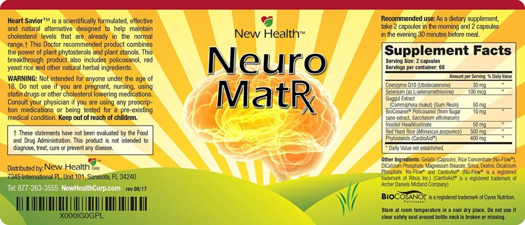 Neuro Matrix label