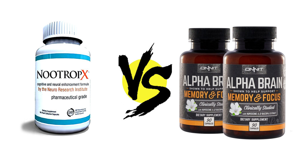NootropX vs. Alpha BRAIN