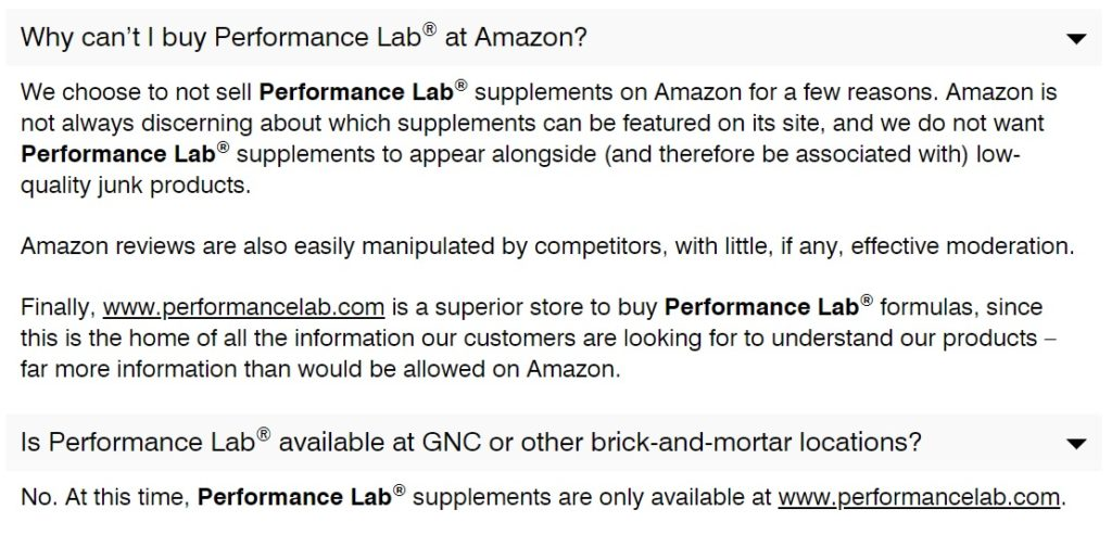 performance lab faq