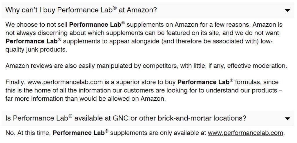 performance lab faq