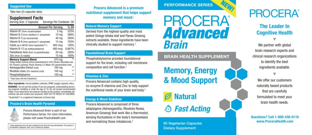 procera advanced brain label