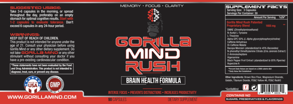 gorilla mind rush label
