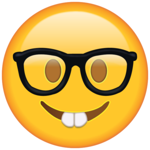 nerd with glasses emoji