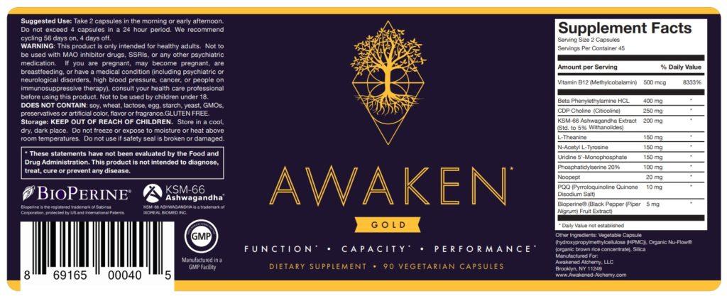 awaken gold label