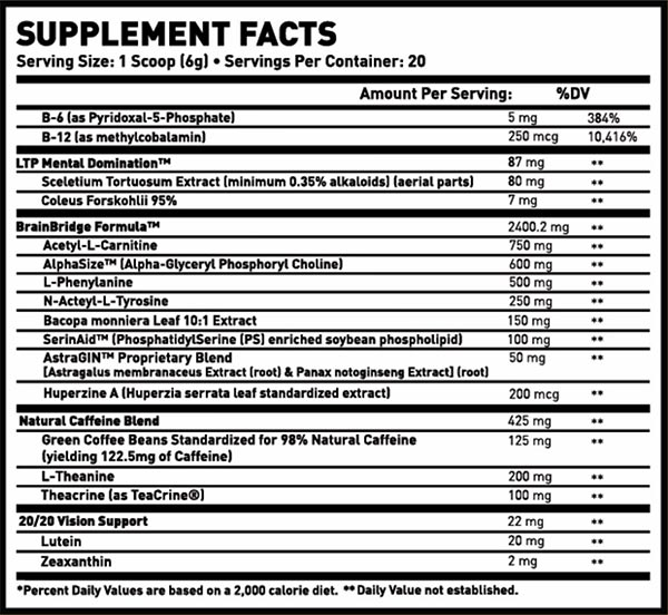 brainbridge supplement facts