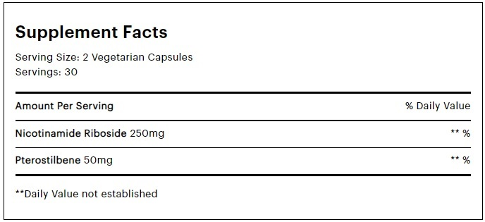 elysium basis supplement facts