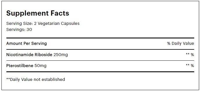 elysium basis supplement facts