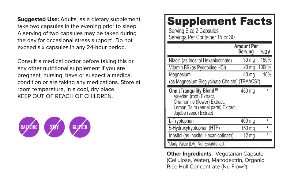 new mood supplement facts