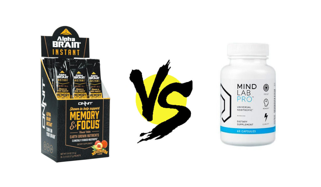 alpha brain instant vs. mind lab pro