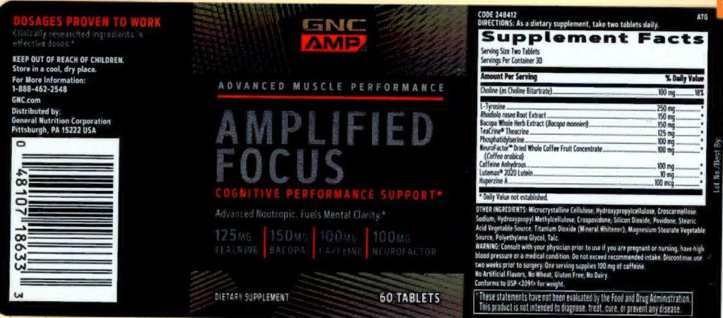 gnc amp amplified focus label