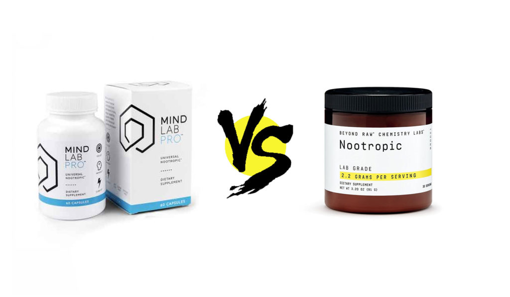 mind lab pro vs. beyond raw chemistry labs nootropic