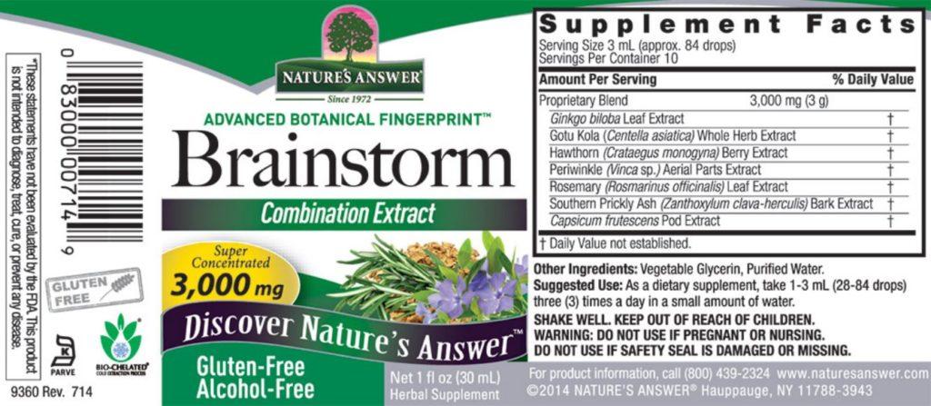 nature's answer brainstorm label