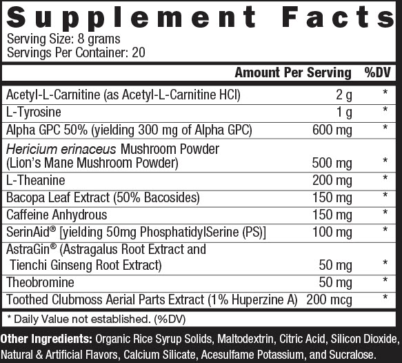 orange brainwash supplement facts