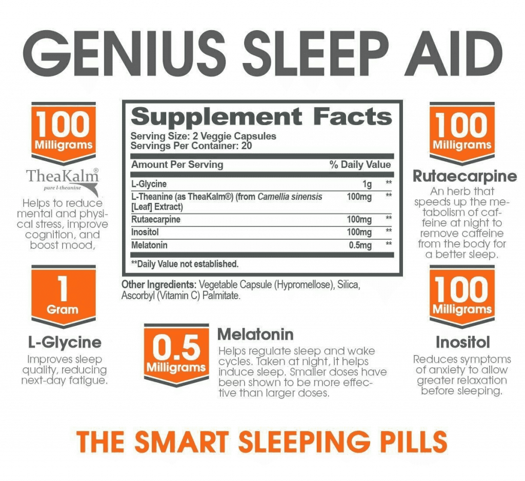 genius sleep aid supplement facts