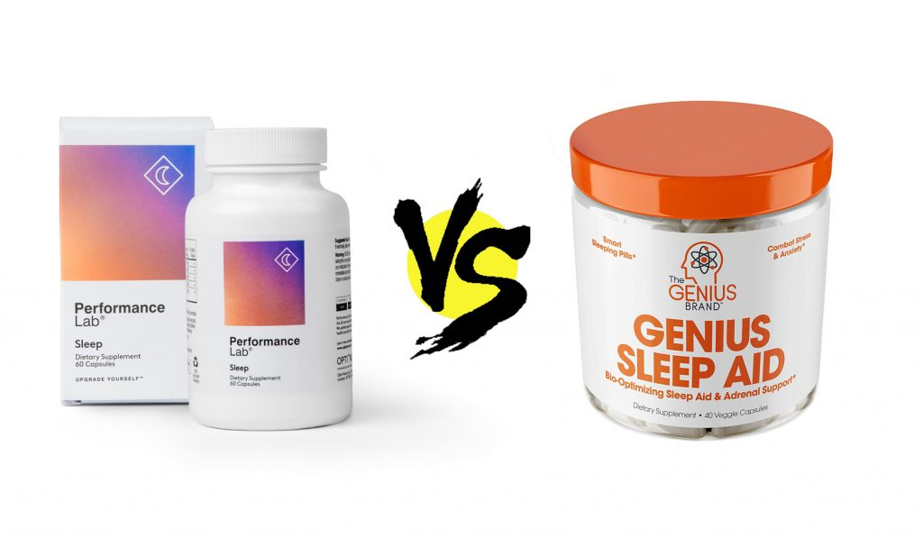 performance lab sleep vs. genius sleep aid