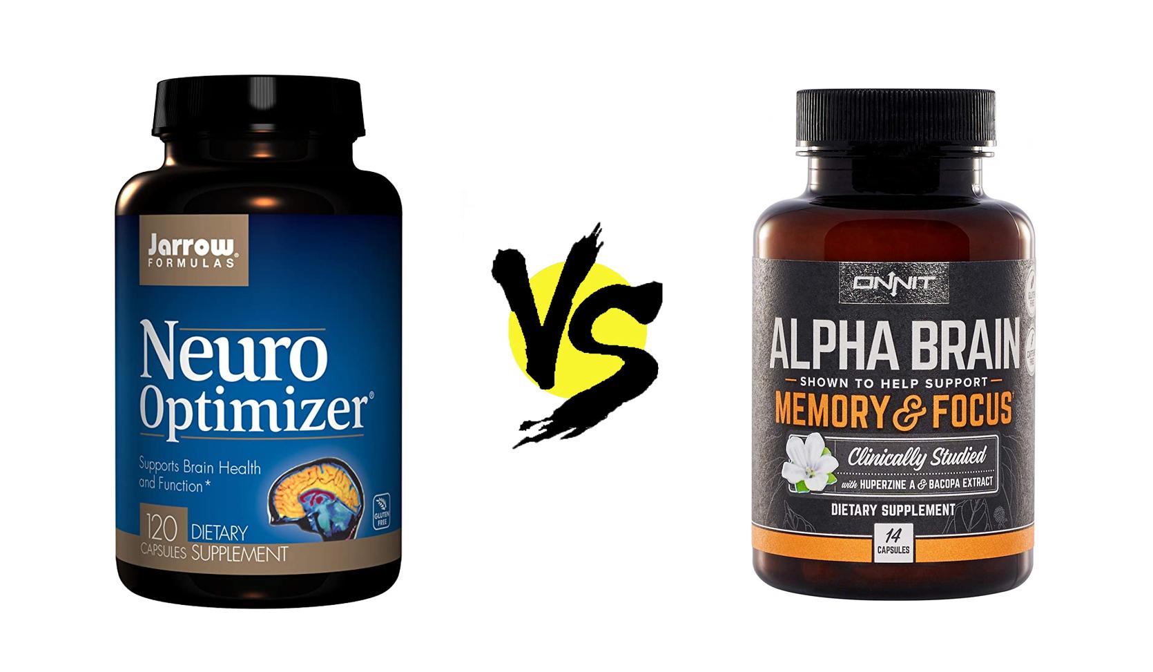 neuro optimizer vs. alpha brain review