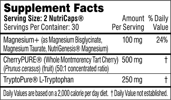 performance lab sleep supplement facts