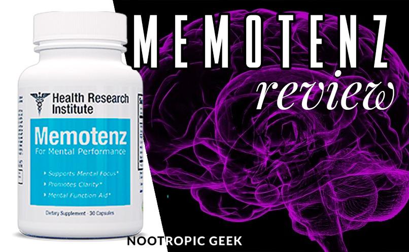 memotenz review nootropic geek